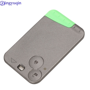 Image 2 - jingyuqin 433 MHz Pcf7947 Chip 2 Buttons Remote Car Key Card Shell Case With Blade For Renault Laguna with Uncut Key Blade