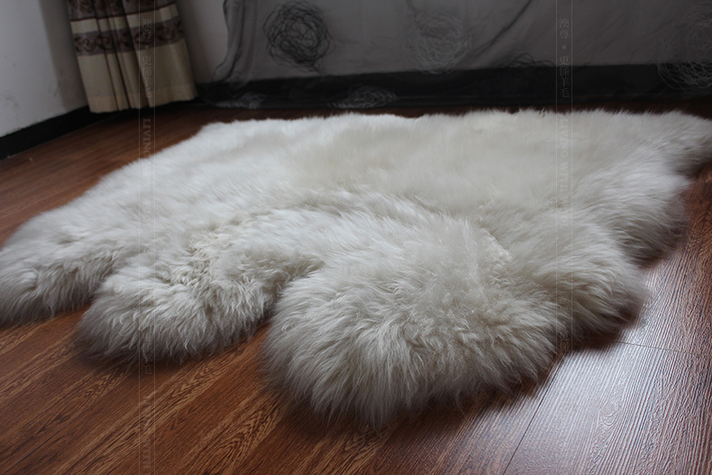Good Brand New Sheep Skin Rug For Home Decoration 3P Natural Sheep Shape Warm  Soft Sheep Fur