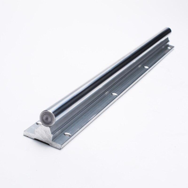 2 комплекта линейная рейка SBR12 400 мм алюминиевая опорная линейная рейка направляющий вал стержень с 4 шт. SBR12UU подшипник блок