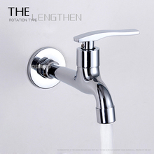 цены Wall Mounted Full Copper lengthen thickening washing machine bibcock single cold mop pool faucet water brass bibcock tap