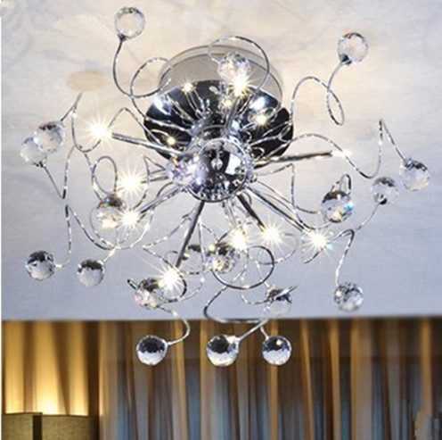 New free shipping high quality modern crystal chandelier with 9 lights chandelier for living room