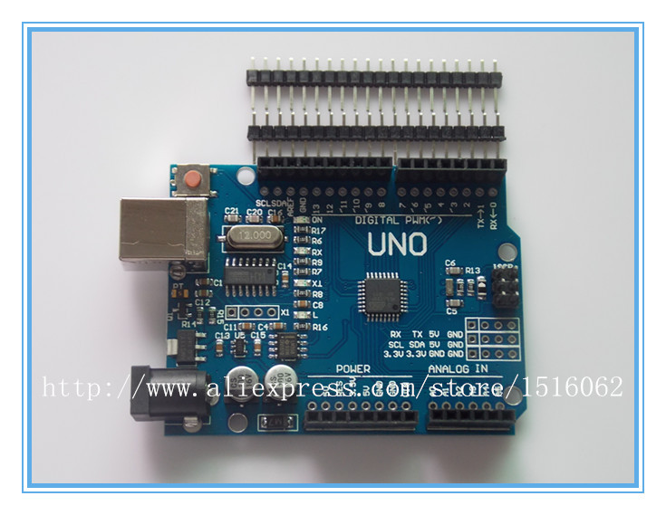 high quality UNO R3 MEGA328P CH340 CH340G for Arduino UNO R3 NO USB CABLE