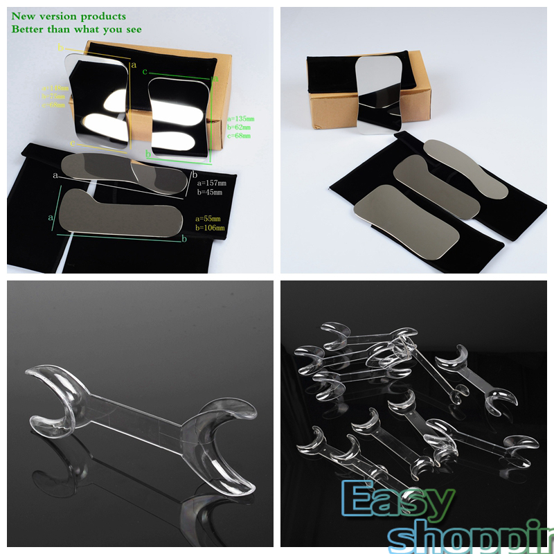 4pcs Dental Intraoral Clinic photography Mirror+5L+5S Retractor Cheek Lip Mouth Opener