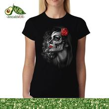 Rose Girl Skull Women T-shirt XS-3XL NewStreetwear Funny Print Clothing Hip-Tope Mans T-Shirt Tops Tees Hot Sale Men T Shirt floral skull women t shirt s 3xl newstreetwear funny print clothing hip tope mans t shirt tops tees hot sale men t shirt fashion