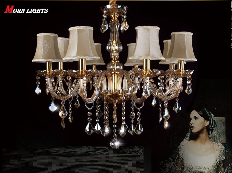 Free Shipping Modern Chandelier Lighting crystal light bed room living room lamp Pendant chandelier Champagne k9 crystal Lights chandelier lighting crystal luxury modern chandeliers crystal bedroom light crystal chandelier lamp hanging room light lighting
