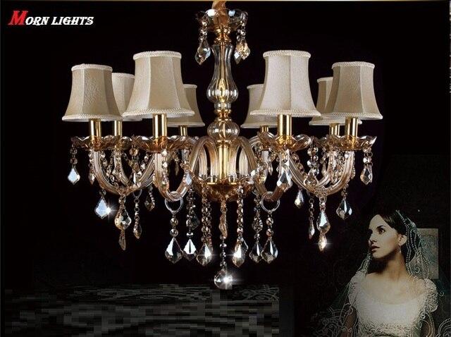 Free verzending moderne kroonluchter verlichting kristal licht bed ...