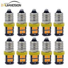 10x E10 Screw base 12V Spot minature flashlight Mini indicator bike 2835 20smd Led Bulb Light Lamps Warm White Amber Cold