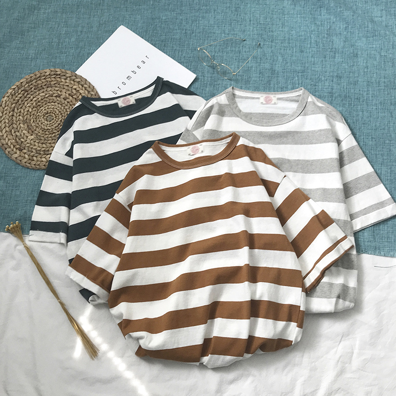 Port Agitation Flow Stripe T Pity Summer New Pattern Japanese Easy Short Sleeve Male Favourite Fashion Recommend Free shipping