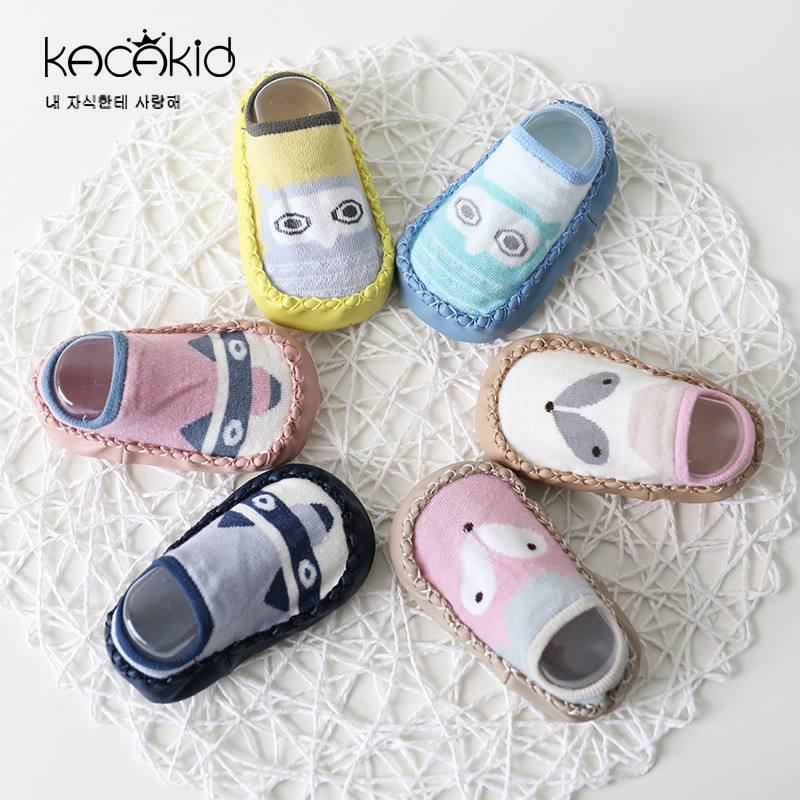 2018 Newborn Spring Autumn Winter Infant Funny Socks Anti Slip Baby Boy Socks With Rubber Soles Baby Girl Cute Socks GZ10