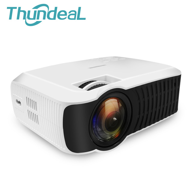 Thundeal t22l led mini projector 2000lumens 800 480 hd for Mirror mini projector