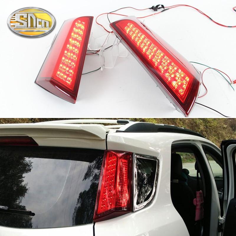 SNCN 2PCS Multi functions Car LED Rear Fog Lamp Pillar Light Bumper Light Brake Light Reflector