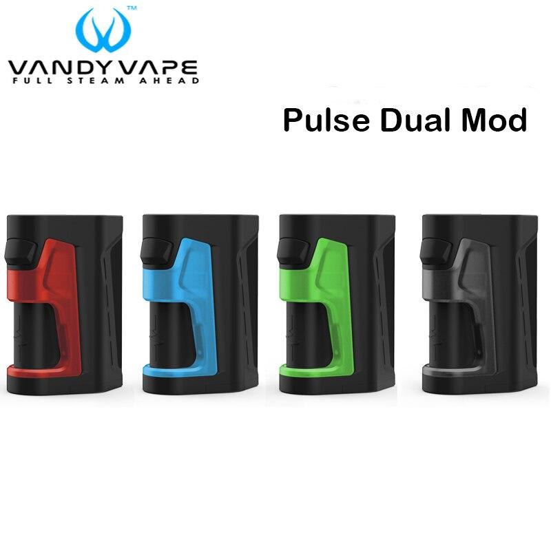 D'origine Vandy Vaporisateur Pulse Double Mod 200 w Soutien VandyVape Pulse V2 RDA Réservoir Cigarette Électronique Vaporisateur Boîte Mod Vaporisateur kit
