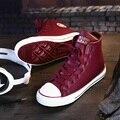 2015 Горячая Холст Женская Обувь Высокий Верх Повседневная Обувь Осень-Зима Кожаные Меховые Ботинки С Платформы c33 15