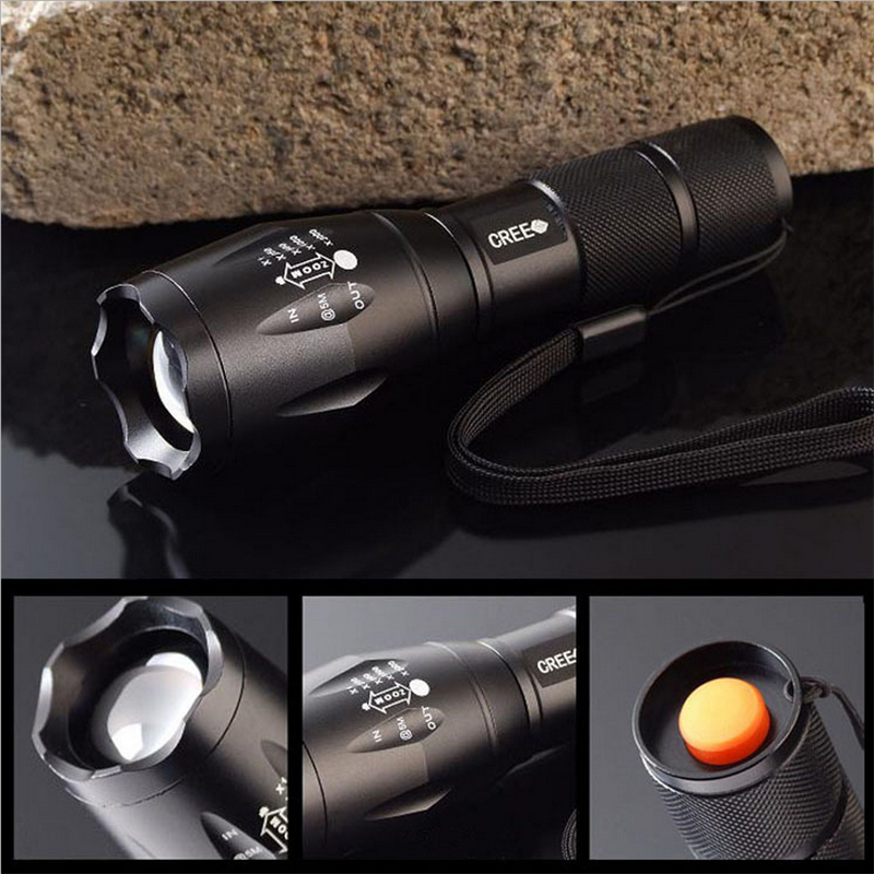 3 Models Portable 4000 Lumens Aluminium Alloy LED Cree T6 Flashlight Torch  Zoomable Powerful Lamp Light