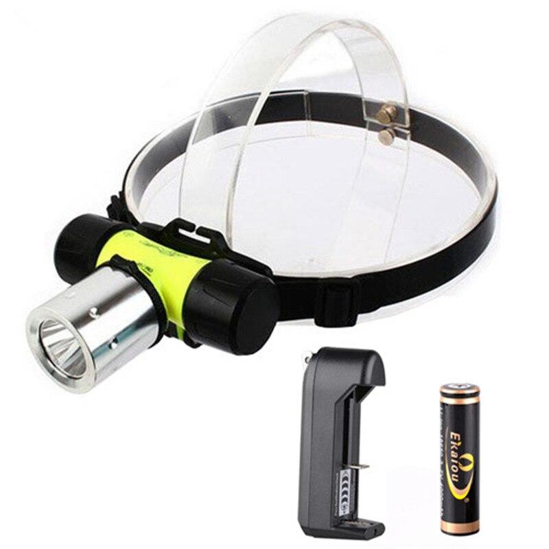Impermeable 3800Lm XM-L T6 LED AAA / 18650 Faro de buceo Luz - Iluminación portatil