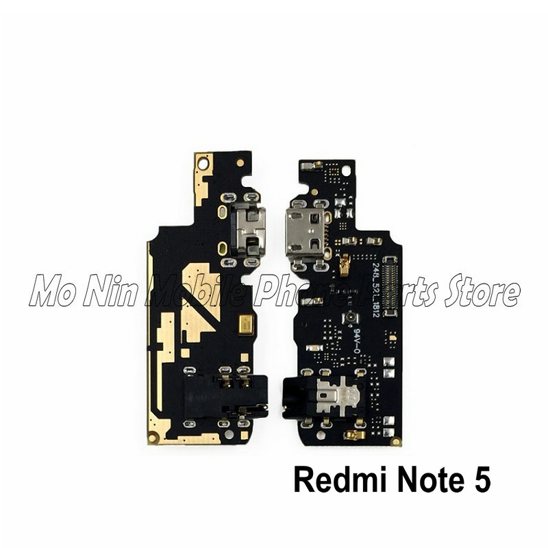 New Microphone Module+USB Charging Port Board Flex Cable Connector Parts For Xiaomi Redmi Note 5 5A Replacement