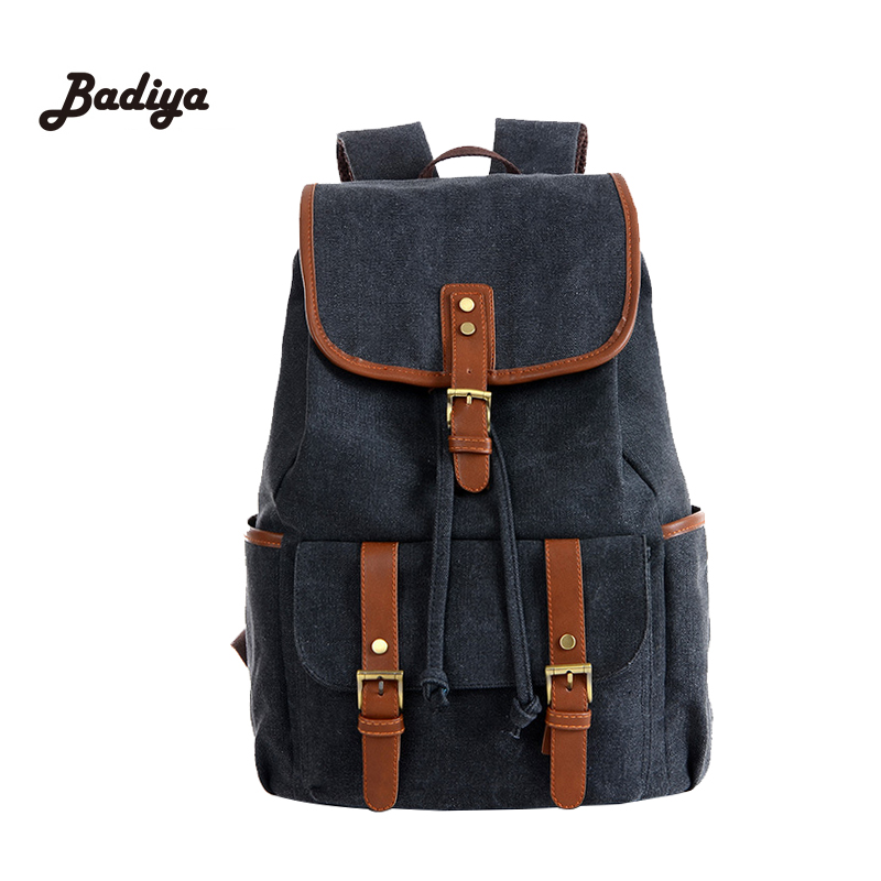 Vintage Casual Students School Backapck Large Capacity Canvas Women Men Backpacks Bag Brand Design Travel Backpack For Woman Man one2 2017 new design flamingo vintage school bag women bag men s laptop backpack for computer university students boys man