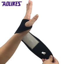 1Pcs Self-heating Magnet Wrist Support Brace Guard Protector Men Winter Keep Warm Band Sports Sales Tourmaline Product Wristband(China)