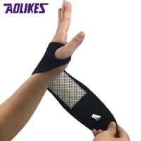 1Pcs Self-heating Magnet Wrist Support Brace Guard Protector Men Winter Keep Warm Band Sports Sales Tourmaline Product Wristband