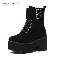 lace up punk boots women ladies platform boots High Heel winter shoes  motorcycle Ankle Boots waterproof b62d300de8ce