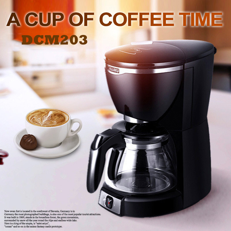 220V Drip Coffee Maker DCM203 Automatic Cafe American Coffee Machine for Home Office 10 Cups Household Coffee Making Machine tsk 1948a 220v 50hz fully automatic coffee machine cups coffee machine for american coffee machines food grade pp material 0 6l