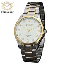 GW1113 CHENXI Roma Dial Diamond Simple Impermeable de Los Hombres de Negocios de Acero Inoxidable Reloj de pulsera de Cuarzo Relojes Deportivos Relogio masculino