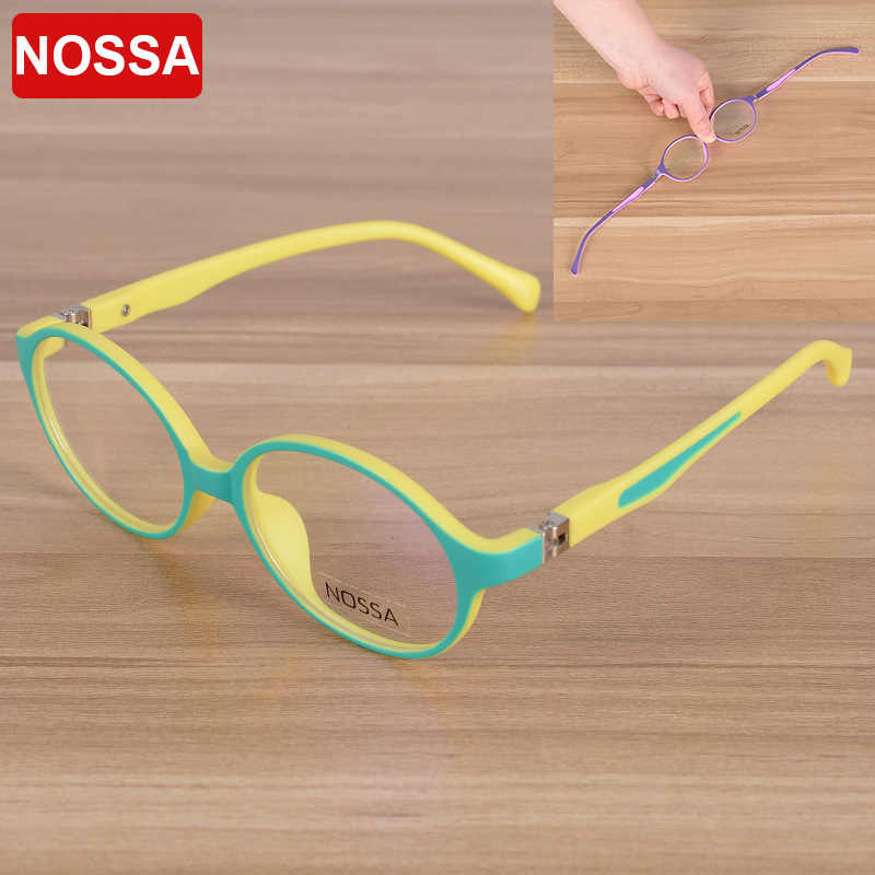 NOSSA Elegant Round TR90 Children Optical Frame Eyewear Eyeglasses Girls Boys Kids Myopia Glasses Frames kid Eyeglasses Frame