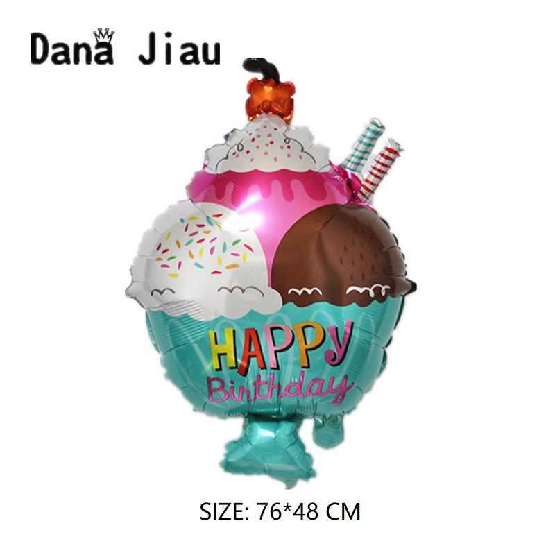 Новый большой Гамбург мороженое попкорн пирожное пончик пицца еда воздушный шар День Рождения украшения торта магазин надувные воздушные шары