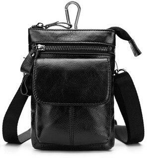 FSSOBOTLUN, pour UMIDIGI Z2 Pro/S2 Lite/A1/Z1 Pro/S2 Pro/C Note 2 ceinture homme sac portefeuille housse en cuir véritable + bandoulière