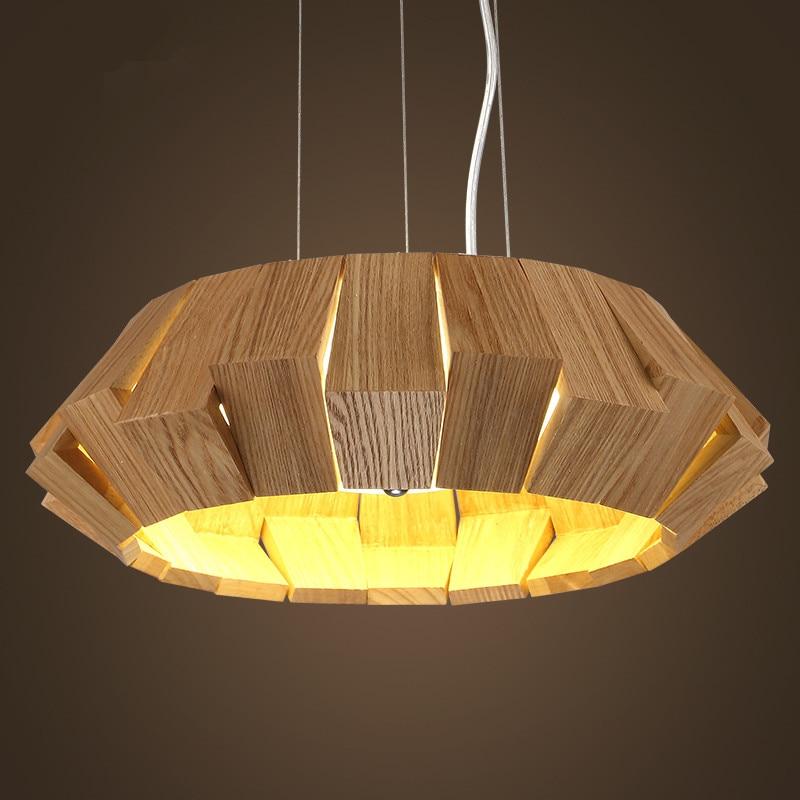 D50CM Modern Creative LOFT Wood Pendant lights dining room lamparas colgantes for indoor decor avize