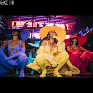 Étoiles avec une couleur vive multi-couleur stretch profond V onesie fête discothèque bar concert DJ chanteur/danseur costume