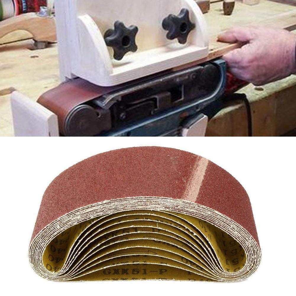 10Pcs Annular Adhesive Assorted Abrasive Grit Sanding Belt Sandpaper Sander