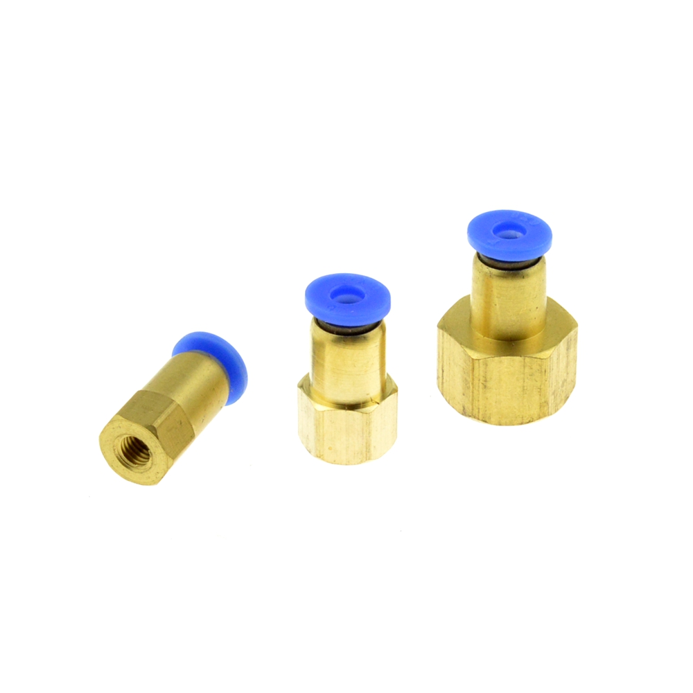 4mm OD Hose Tube To M5 1/8 Inch PT 1/4BSPT Female Thread Straight Push In Joint Pneumatic Connector Brass Air Quick Fittings 9 pcs 3 8 pt male thread 8mm push in joint pneumatic connector quick fittings