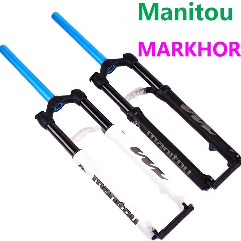 Велосипедная вилка Manitou MARKHOR 26 27,5 29er горный MTB Велосипедная вилка воздушная передняя вилка отличается от MRD Marvel Pro comp SR SUNTOUR 2018