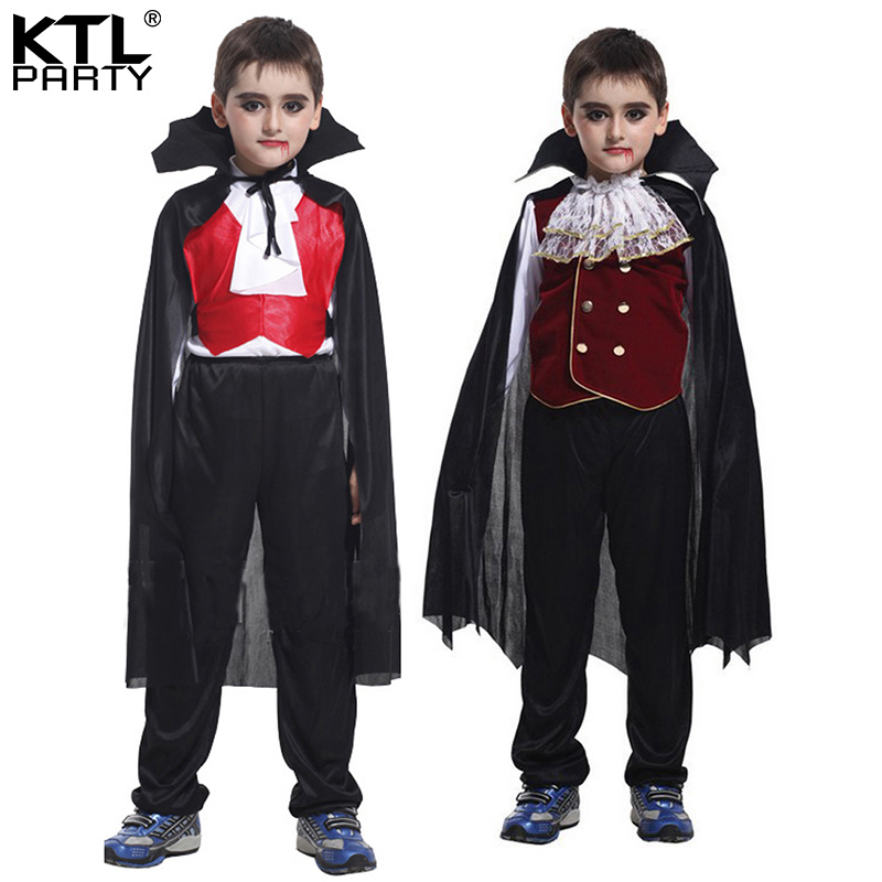 3a4b5c1a74c9b US $21.37 5% OFF|Halloween party dress up Cosplay costume children Scary  Vampire King costume clothes for kid boy-in Boys Costumes from Novelty & ...