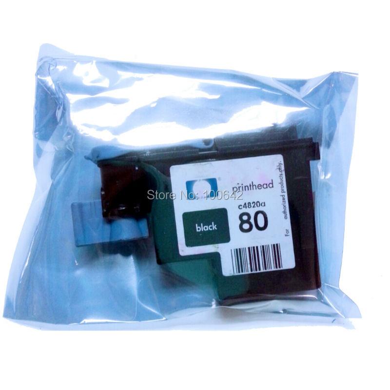 ФОТО 1pcs Black Remanufactured printer head for HP80 HP 80 Printhead C4820A for HP Designjet 1000 1050c 1055cm