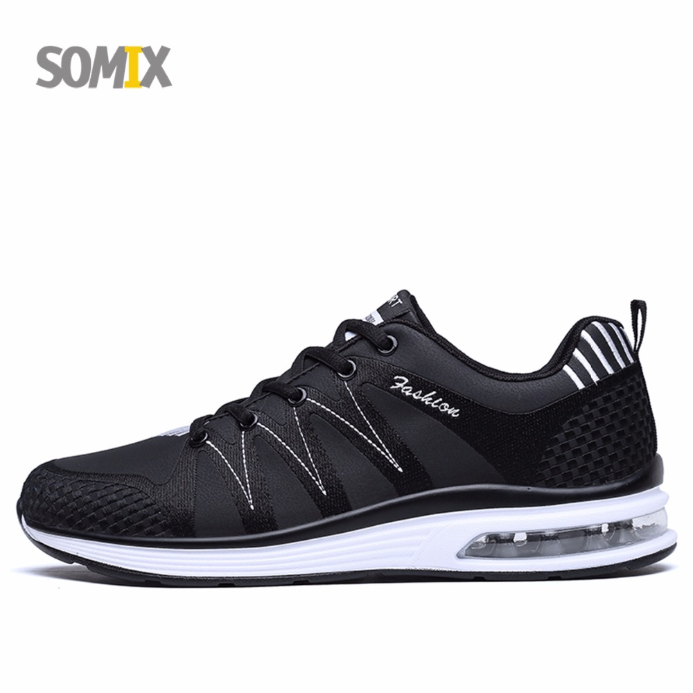 Somix Brand Running Shoes New Arrivals Couple Sport Outdoor Jogging Damping Men Running Shoes Hard-wearing Non-slip Sneakers Men