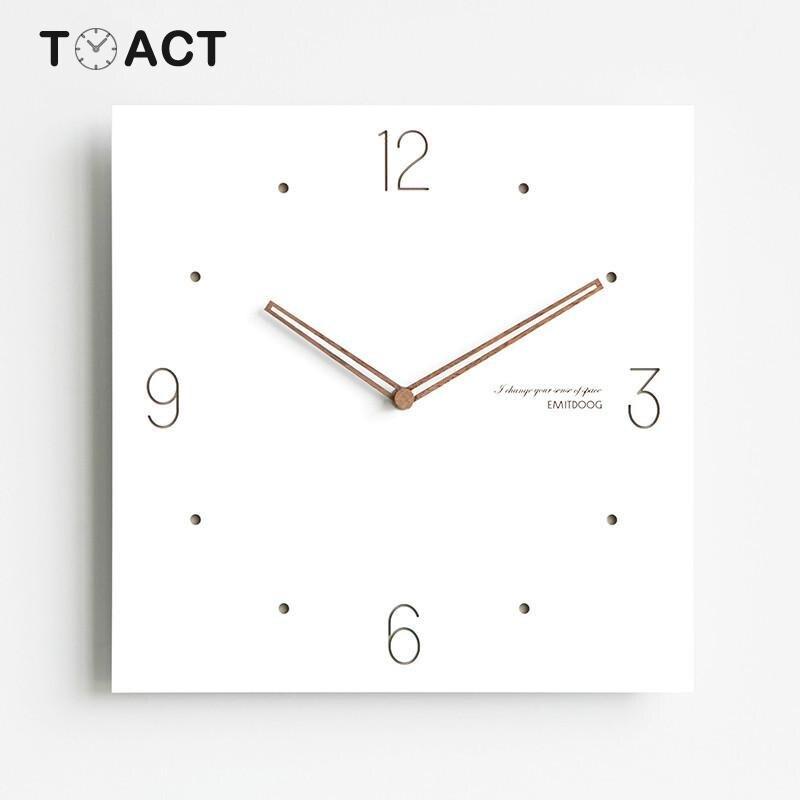 Horloge murale créative décor européen horloges murales Design moderne bois minimaliste montres salon cadeau pour ami