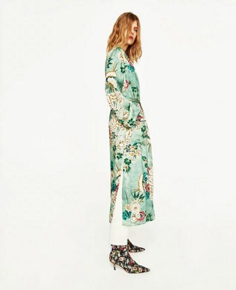 HTB1O2Z0PVXXXXaOXVXXq6xXFXXX7 - Ethnic Flower Print with sashes Kimono Shirt Retro Tops blusas