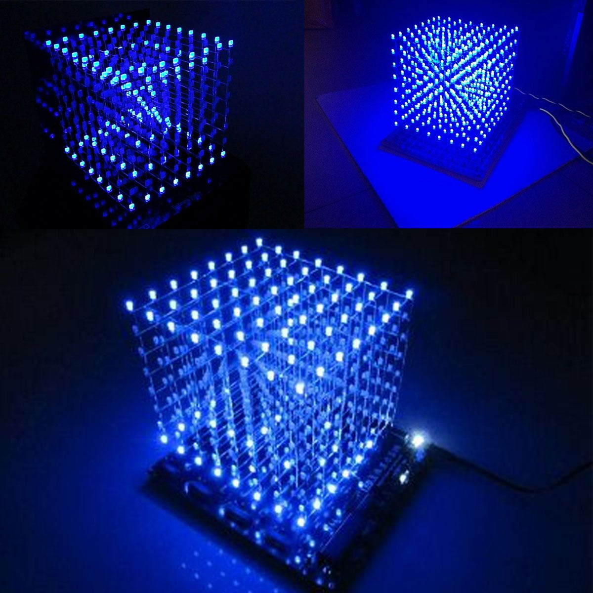 Leory 1pc 16x16 268 Led 3d Led Light Cube Kit Music Spectrum Electronic Kit With Remote Control Welding Auxiliary Plate Diy A Wide Selection Of Colours And Designs Consumer Electronics
