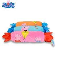120*150cm Genuine Peppa Pig cartoon Candy air conditioning multi function plush quilt Kids Kindergarten Blanket kids toy