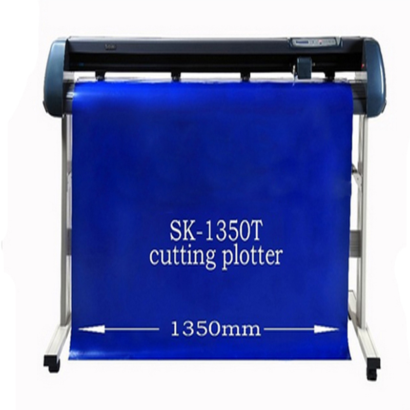 SK-1350T Vinyl cutting plotter 1350mm paper plotter Usb vinyl cutter plotter Software/English manual 220/110V free shipping artcut software 2009 for vinyl cutter plotter cutting plotter