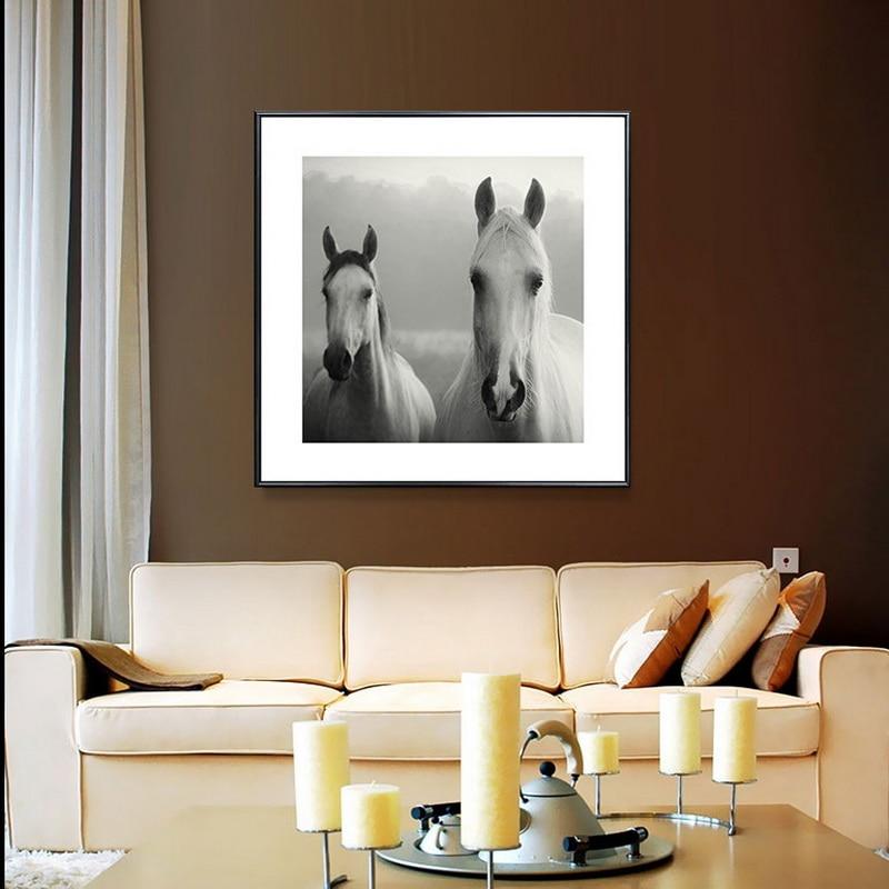 Holland Leinwand Malerei moderne Ölgemälde Tier Pferd Kopf - Wohnkultur - Foto 2