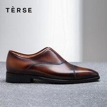 TERSE/Новинка года; мужская повседневная обувь с эластичной лентой; дышащая обувь из натуральной кожи в стиле пэчворк; высококачественные лоферы; 15770-43