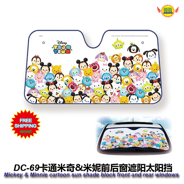 car accessories Cartoon Mickey & minnie mouse front window sunshade Foils Windshield Visor Cover UV Protect Car FilmDC-69