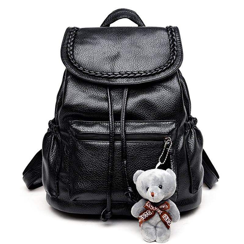Buy korean fashion travel backpack black women backpacks leisure student Korean style fashion girl bag