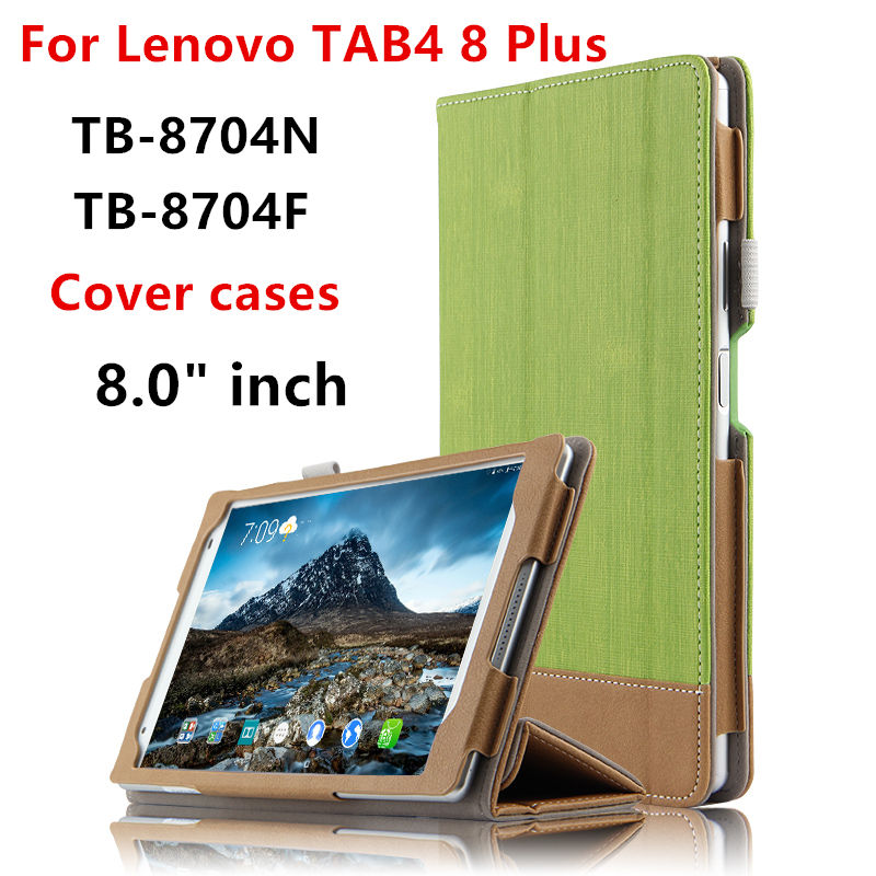 Case Cover For Lenovo TAB 4 8 Plus Protective Smart covers Leather Tablet Tab4 8 plus 8.0 TB-8704F N Cases PU Protector Sleeve new design high quality pu leather sleeve bag case for lenovo tab4 8 plus tb 8704f tb 8704n tablet pouch stand cover