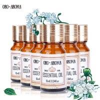 Famous brand oroaroma Jasmine Grapefruit Helichrysum Castor Hemp Seed Evening Primrose Essential Oils Pack For Spa Bath 10ml*6