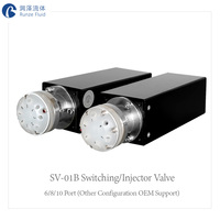 Microliter Injection Six way Switching Valve Auto Chemicals Sampling Valves Sapphire Spool High Reliability Long Service Life