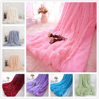 WINLIFE 160 200cm And 130 160cm Super Soft Long Shaggy Fuzzy Fur Faux Fur Warm Elegant
